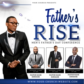 FATHER'S day church event flyer template