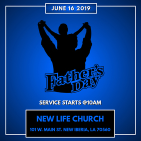 FATHER'S DAY CHURCH FLYER Cover ng Album template