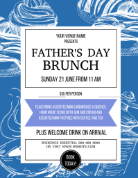 Father's day day brunch event flyer template