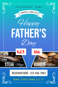 Father's Day Deal Poster Template