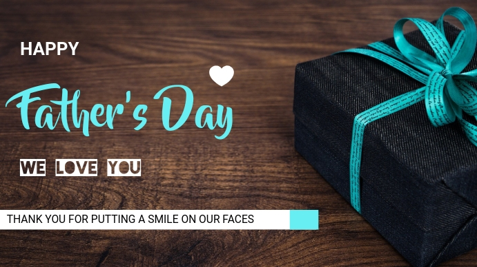Father's Day Цифровой дисплей (16 : 9) template