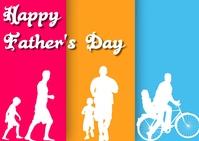 father's day ไปรษณียบัตร template