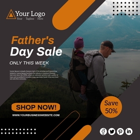 father's day Quadrat (1:1) template