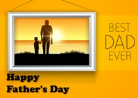 father's day Postal template