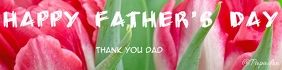 father's day Banner 2' × 8' template