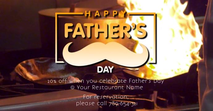 Father's Day Gedeelde afbeelding op Facebook template