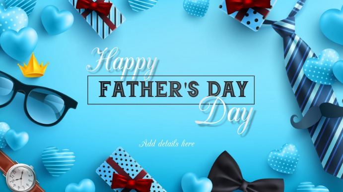 Father's day Twitch Banner template