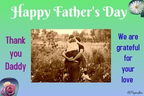 father's day Banner 4' × 6' template
