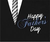 Father's day Design Rectángulo Grande template