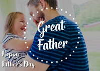 father's day 明信片 template