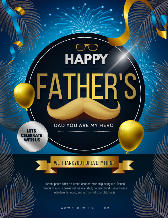 father's day Folder (US Letter) template
