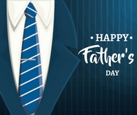 Father's day Design Großes Rechteck template