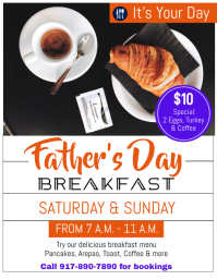 Father's Day Event Flyer (format US Letter) template