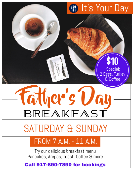 Father's Day Event Flyer (Letter pang-US) template