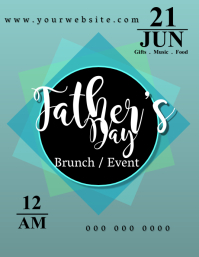 Father's Day Event Løbeseddel (US Letter) template
