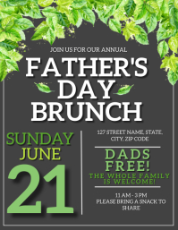 Father's day Event Flyer template