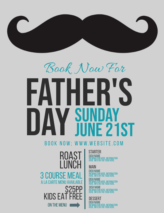 Father's Day Event Flyer Template 传单(美国信函)