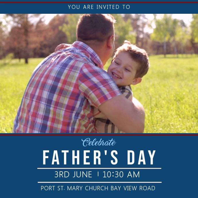 Father's Day Event Invite Video Template Quadrato (1:1)