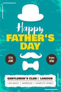 Father's Day Event Poster Template