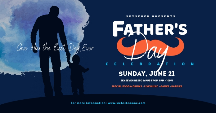 Father's Day Facebook Shared Image template