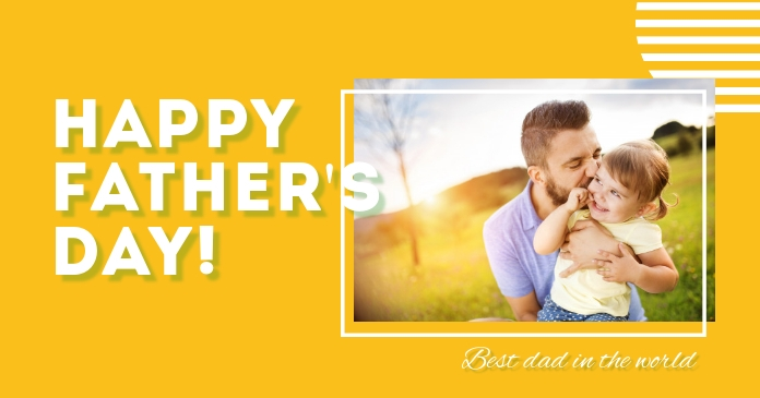 Father's Day Facebook Shared Post template