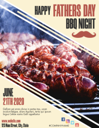 father's day father day restaurant bbq event Flyer (US Letter) template