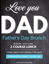 Father's Day Flyer, Happy Father's Day