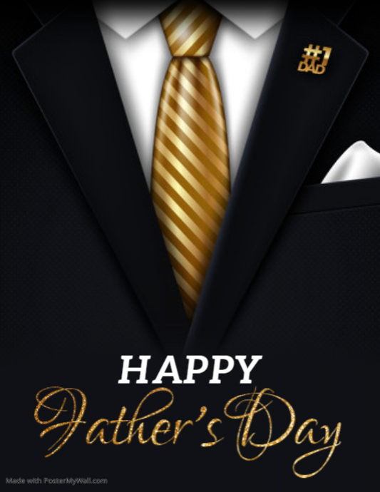 Father's Day Flyer, Happy Father's Day Iflaya (Incwadi ye-US) template