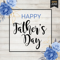 Father's Day Flyer, Happy Father's Day Vierkant (1:1) template