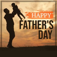 Father's Day Flyer, Happy Father's Day สี่เหลี่ยมจัตุรัส (1:1) template