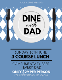 Father's Day Flyer,Father's Day Lunch
