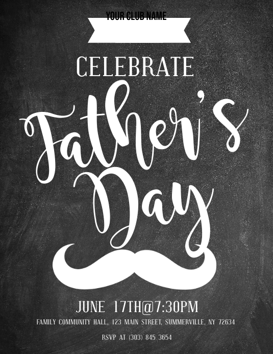 Father's Day Flyer Volantino (US Letter) template