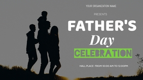 father's day flyer Digitale display (16:9) template