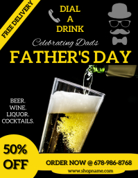 father's day flyer template
