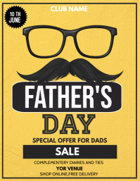 father's day flyers,event flyers 传单(美国信函) template