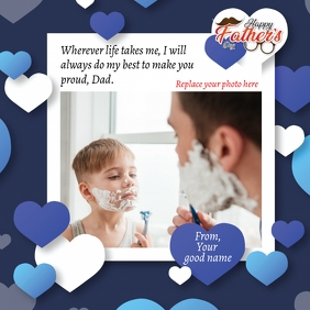 Father's Day greeting card Message Instagram template