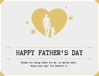 Father's Day Greeting Card Folheto (US Letter) template