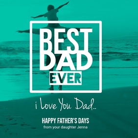 Father's Day Greeting Video Instagram Template