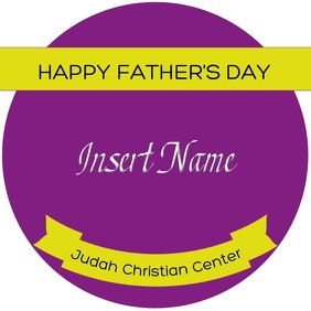 Father's Day Label Logo template