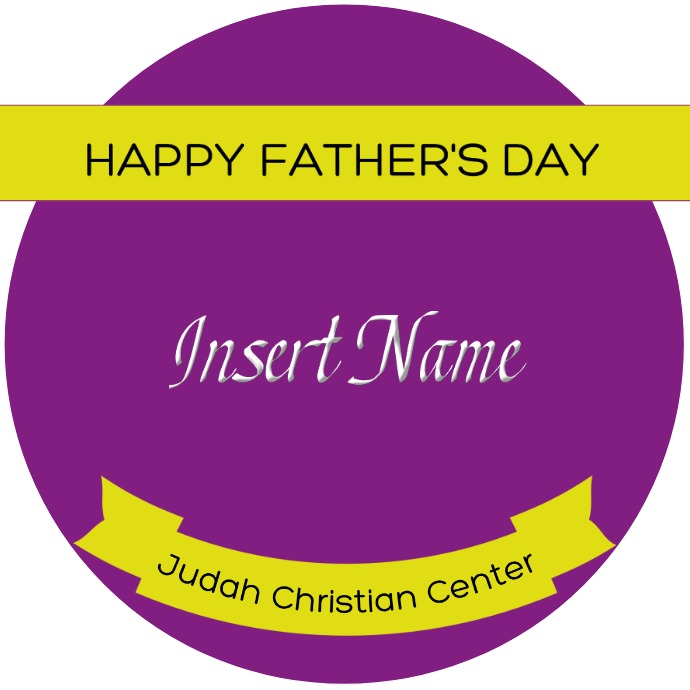 Father's Day Label Logotipo template