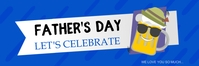 Father's Day Let's Celebrate Banner template