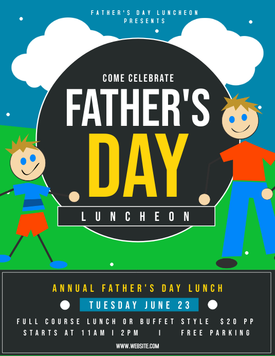Father's day luncheon Flyer (Letter pang-US) template