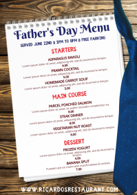 Father's Day Menu Poster Template
