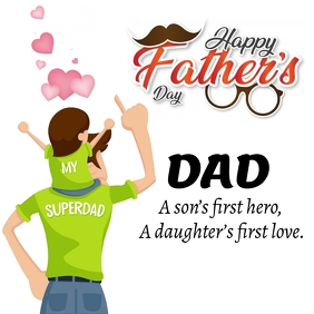 Father's Day Online Greeting Card Instagram Post template