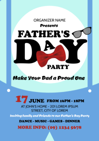 Father's Day Party Flyer Template