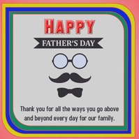 Father's Day Post โพสต์บน Instagram template