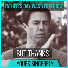 FATHER'S DAY POST REPLY SOCIAL MEDIA TEMPLATE