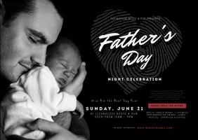 Father's Day Postcard Postal template