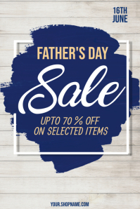 Father's Day Poster, Father's Day Sale Póster template