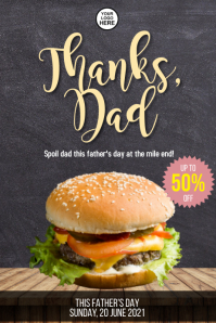 Father's Day Poster Cartaz template